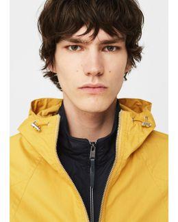 Cotton-blend Hooded Raincoat