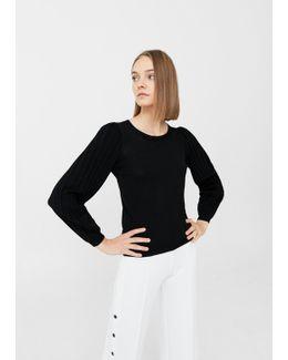 Pleated Sleeves Sweater