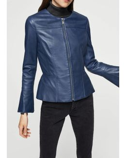Flared Sleeve Leather Jacket