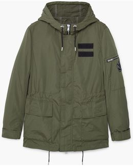 Hooded Water-repellent Parka