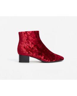 Velvet Heel Ankle Boot