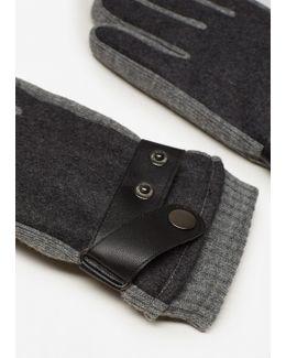 Contrast Panel Gloves