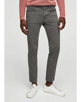 Slim-fit 5 Pocket Cotton Trousers