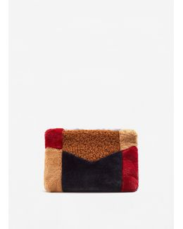 Combined Faux-fur Bag