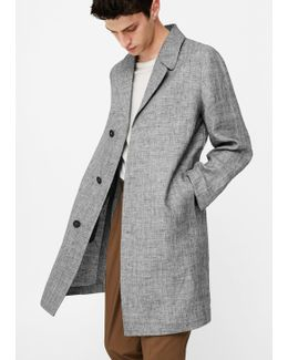 Prince Of Wales Linen Trench