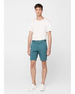 Structured Cotton Bermuda Shorts
