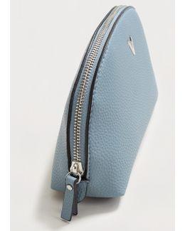 Pebbled Zip Cosmetic Bag