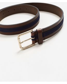 Leather Mixed Belt