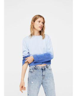 Ripped Tie-dye Sweatshirt