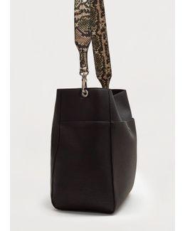 Monochrome Snake-effect Bag