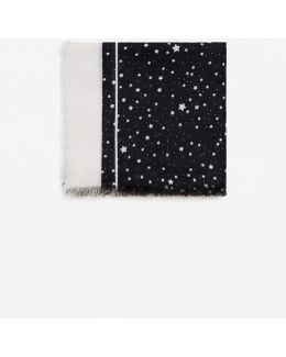 Star Print Scarf
