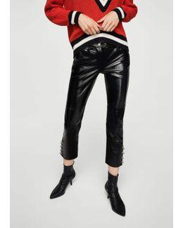 Piercing Vinyl Trousers