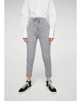 Flecked Baggy Trousers