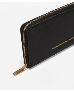 Message Saffiano-effect Purse