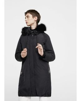 Hooded Feather Coat