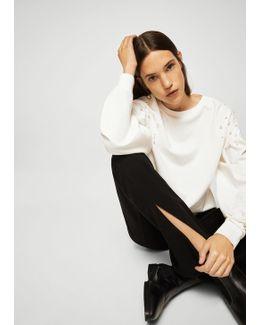Pearl Appliqués Sweatshirt