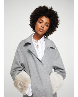 Contrasted Cuffs Handmade Coat