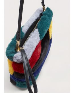 Combined Faux-fur Bag