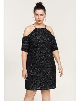 Sequins Off-shoulder Dress