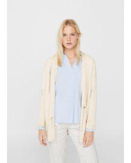 Decorative Rips Cotton Jacket