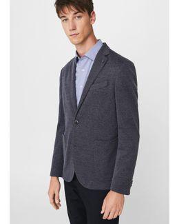 Slim-fit Textured Blazer