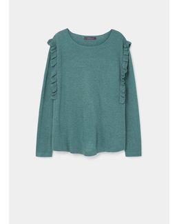 Ruffled Detail Sweater