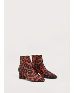 Leopard Effect Ankle Boots