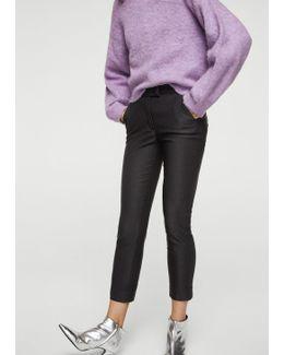 Crop Slim-fit Trousers