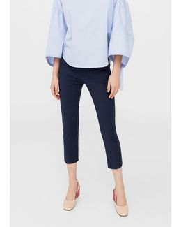 Crop Slim-fit Trousers