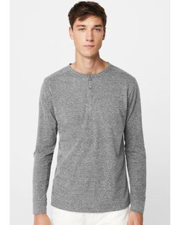 Flecked Cotton Shirt