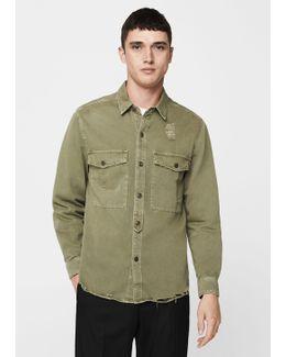 Chest-pocket Cotton Overshirt