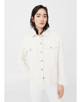 Buttoned Corduroy Jacket