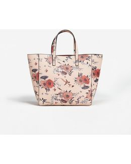 Printed Saffiano-effect Bag