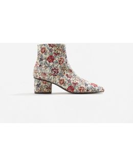 Floral Print Ankle Boot