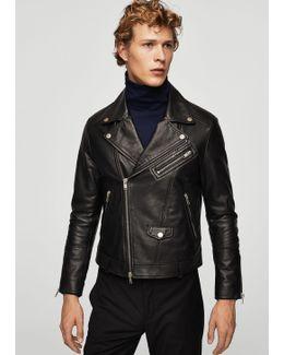 Leather Biker Oversize Jacket