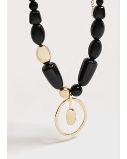 Bead Stone Necklace