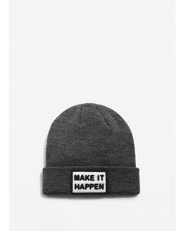 Message Ribbed Hat