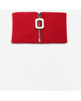 Zipped Knit Collar