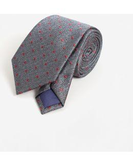 Polka-dot Patterned Tie