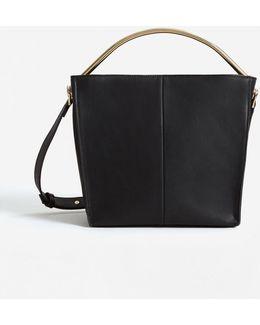 Metallic Handle Tote Bag