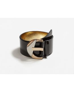 Patent Leather Sash Belt