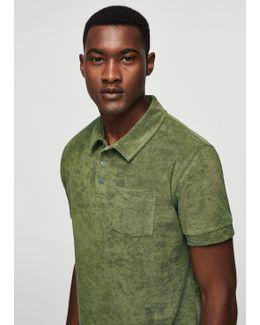 Cotton Towel Texture Polo Shirt