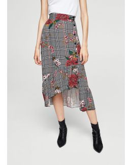 Floral Prince Of Wales Skirt