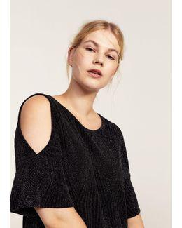Metallic Off-shoulder Dress