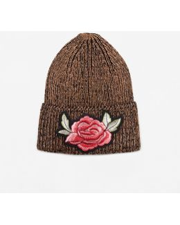 Floral Embroidery Beanie
