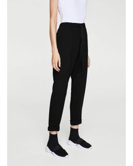 Belt Baggy Trousers