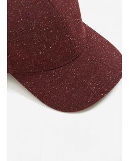 Flecked Cotton-blend Cap