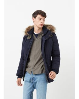 Feather Down Hooded Coat