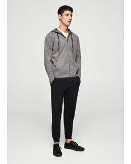 Flecked Stretch Sweatshirt