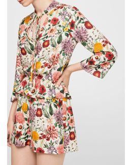Ruffle Floral Jumpsuit